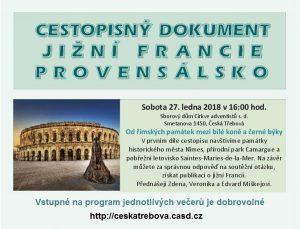 Jižní Francie (1) @ Sborový dům CASD, Česká Třebová