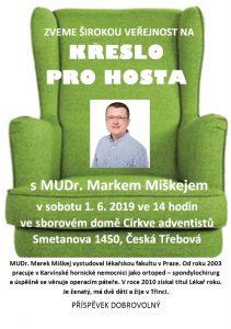 Křeslo pro hosta - M. Miškej @ Sborový dům CASD, Česká Třebová